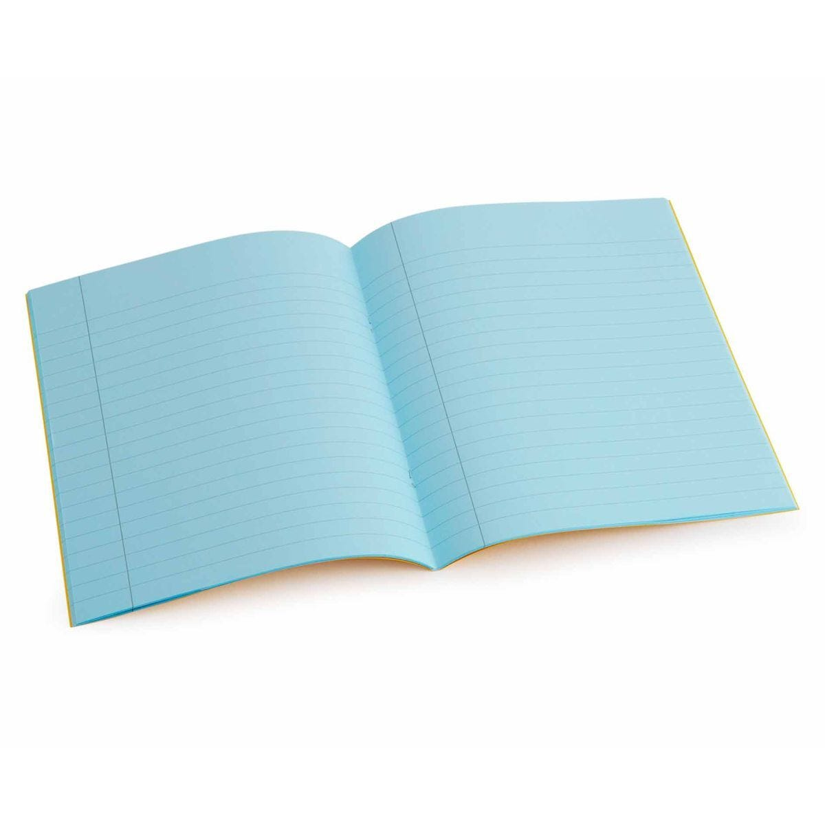 Tinted Exercise Book Standard 7x9 Lined 10mm Aqua