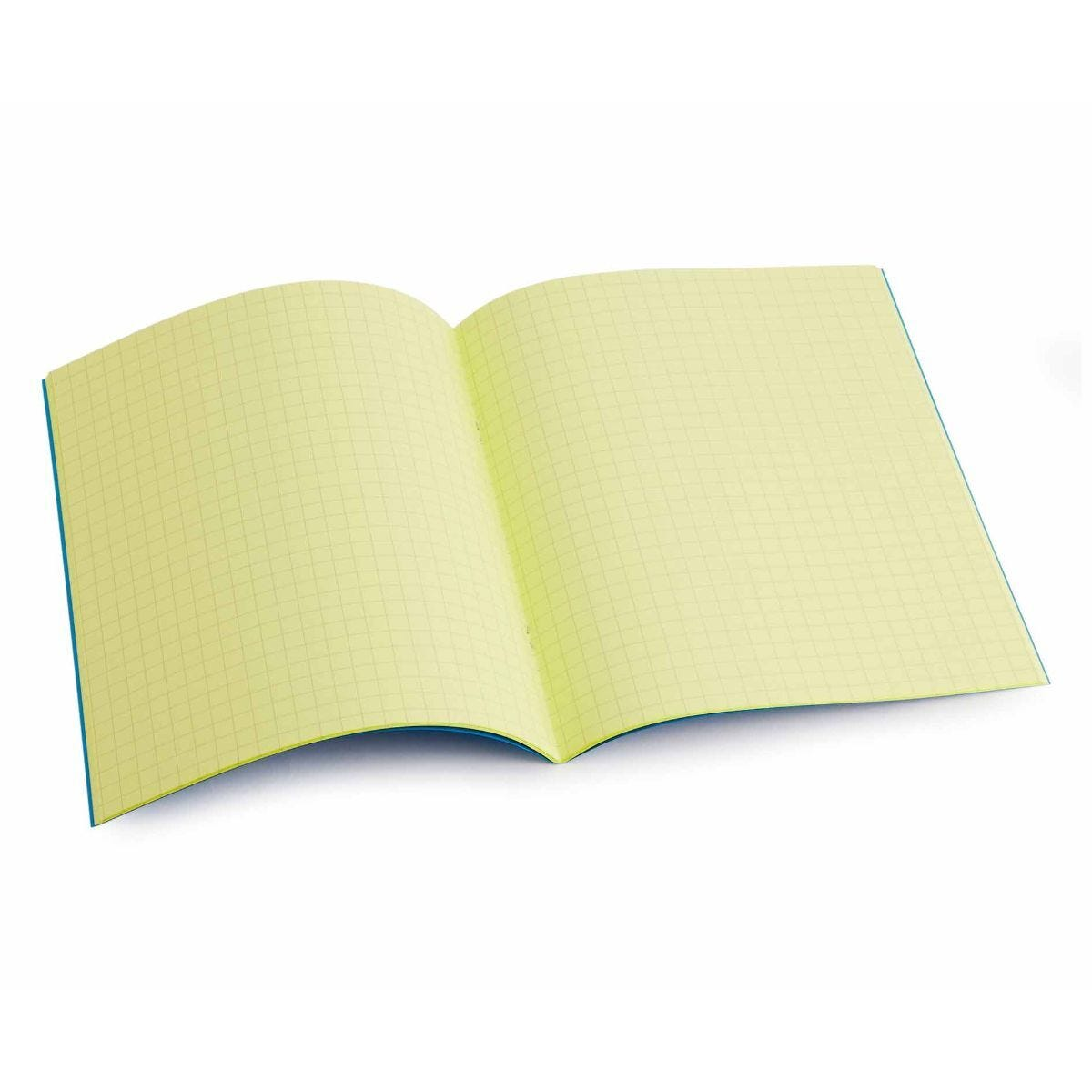 Tinted Exercise Book Standard 7x9 Squared 7.5mm Yellow