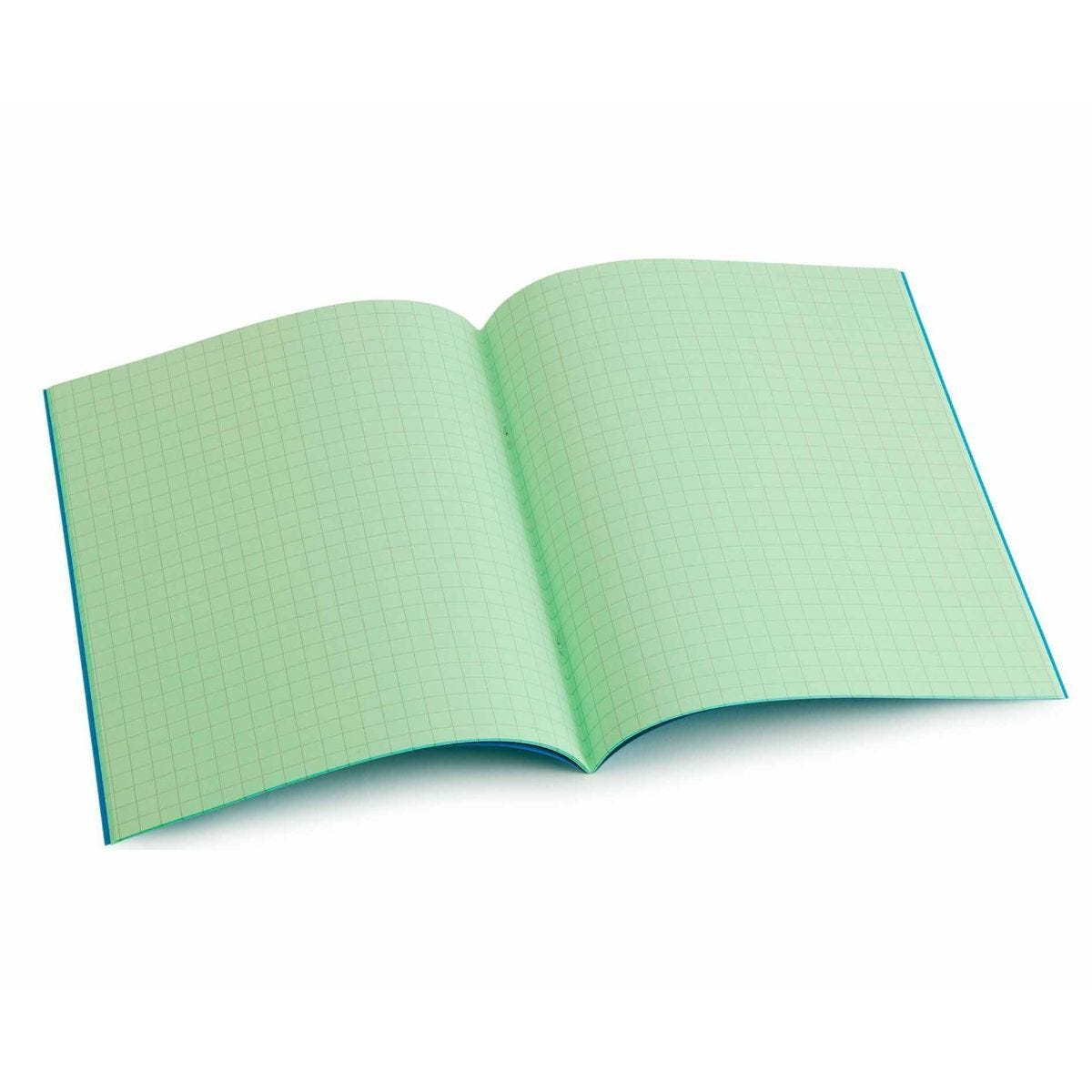 Tinted Exercise Book Standard 7x9 Squared 7.5mm Leaf Green