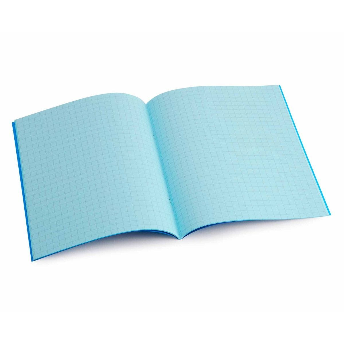 Tinted Exercise Book Standard 7x9 Squared 7.5mm Aqua