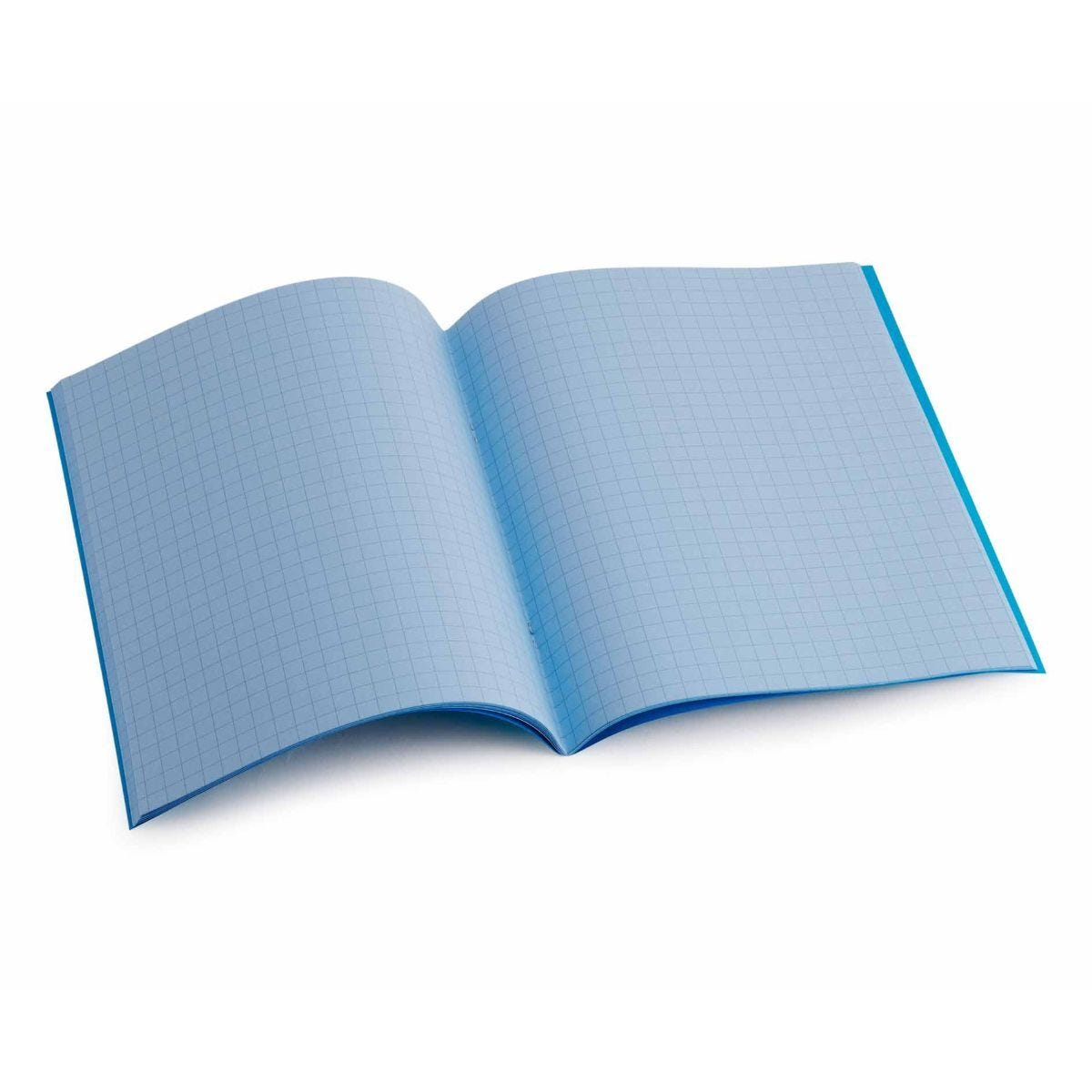 Tinted Exercise Book Standard 7x9 Squared 7.5mm Sky Blue