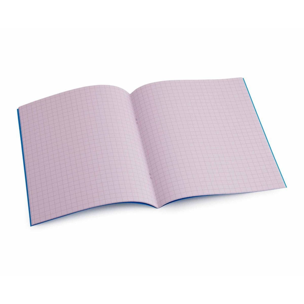 Tinted Exercise Book Standard 7x9 Squared 7.5mm Purple