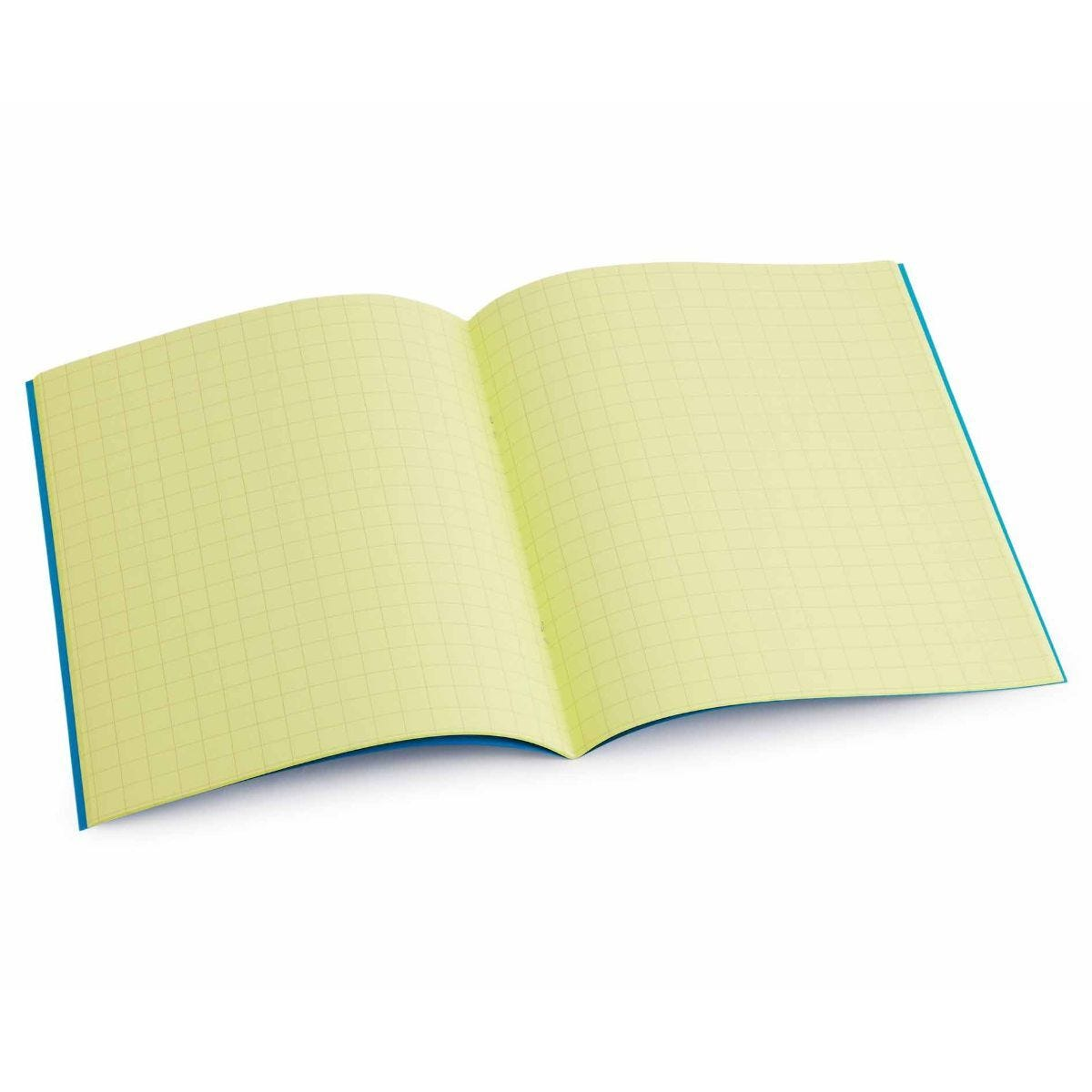Tinted Exercise Book Standard 7x9 Squared 10mm Yellow