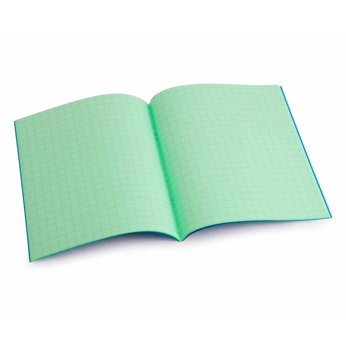 Tinted Exercise Book Standard 7x9 Squared 10mm Apple Green