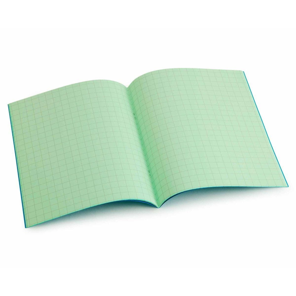 Tinted Exercise Book Standard 7x9 Squared 10mm Leaf Green