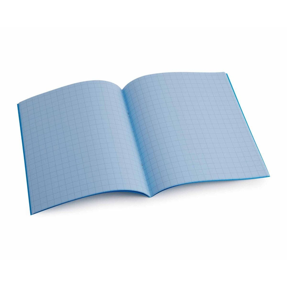 Tinted Exercise Book Standard 7x9 Squared 10mm Sky Blue