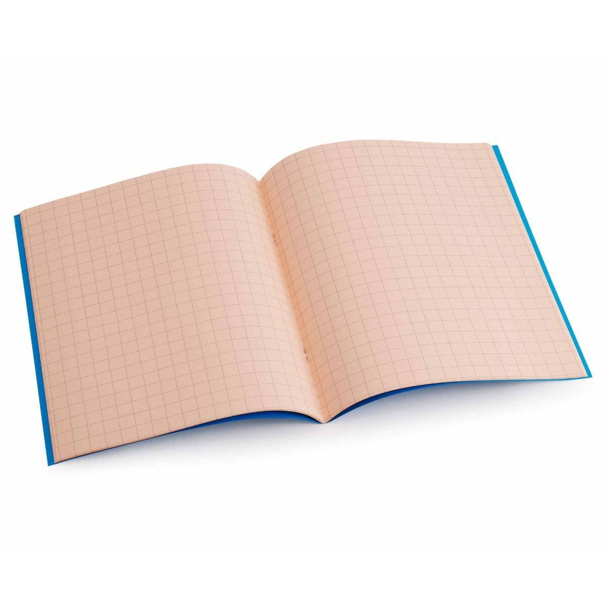 Tinted Exercise Book Standard 7x9 Squared 10mm Salmon