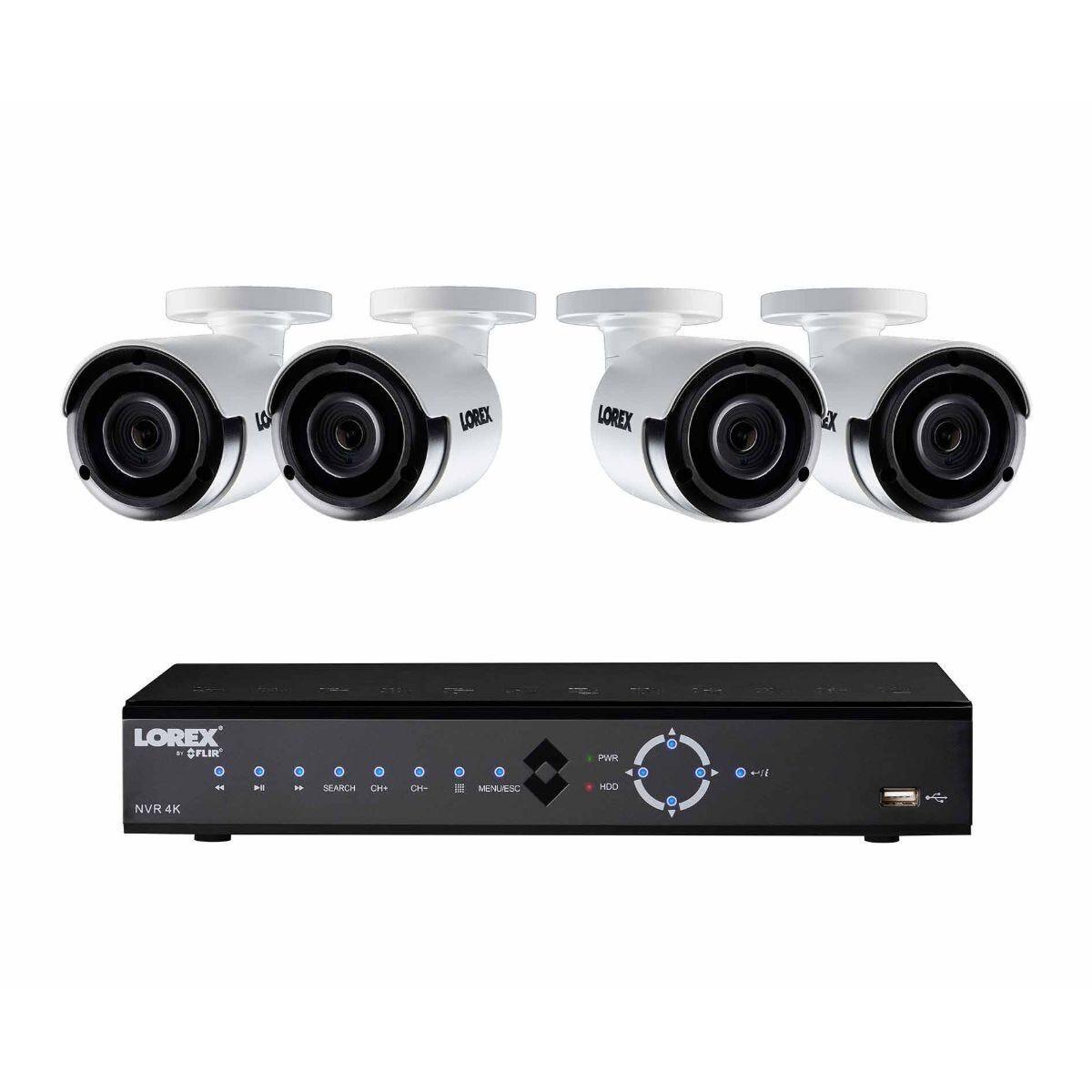 Lorex 8 Channel 2TB 4K NVR with 4 x 4MP Super HD Cameras