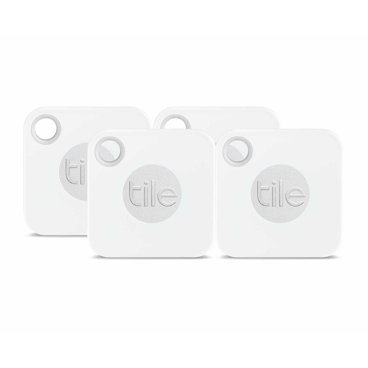 Tile Mate Bluetooth Phone Item Finder with Replaceable Battery Pack of 4