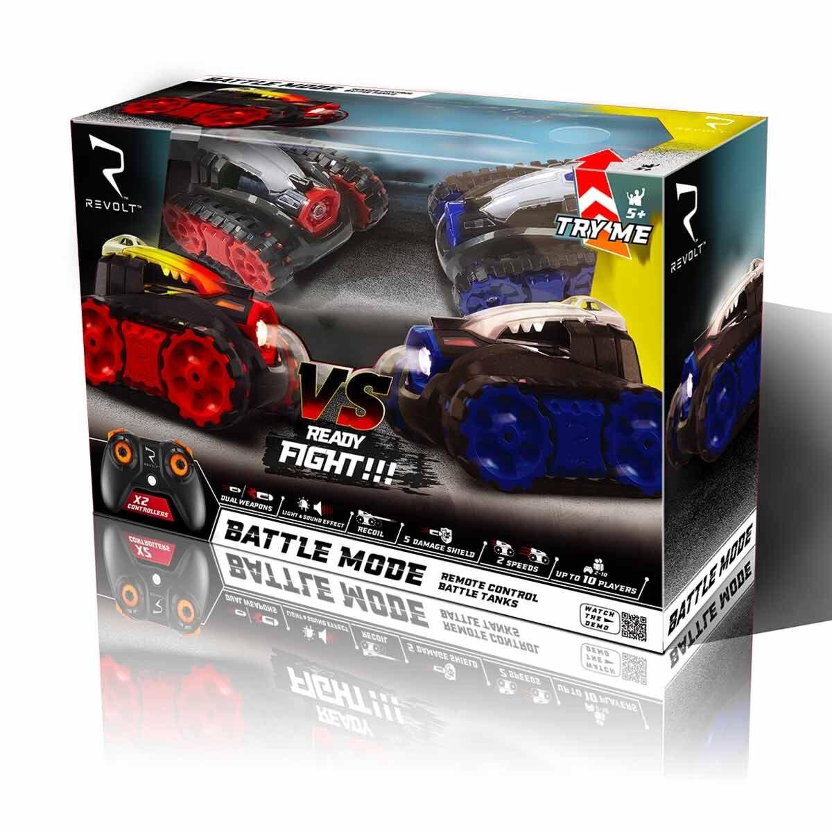 Revolt Battle Tanks Remote Control 2 Pack