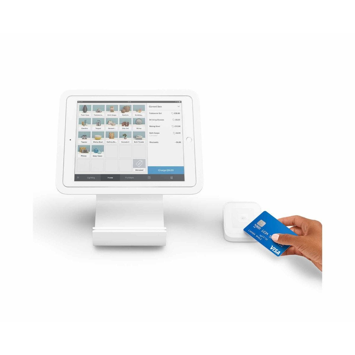 Square Stand Bundle Including Card Payment Reader and Dock