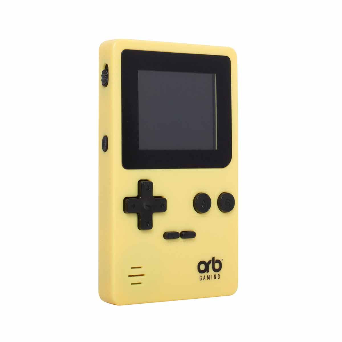 Retro Handheld Arcade Game Console Yellow/Black