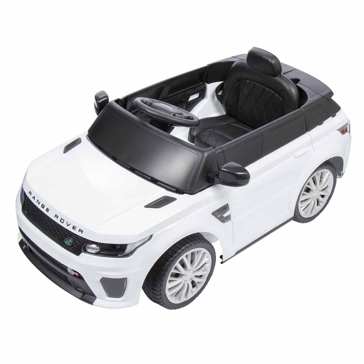 Range Rover 2 in 1 Ride On Electric Car White
