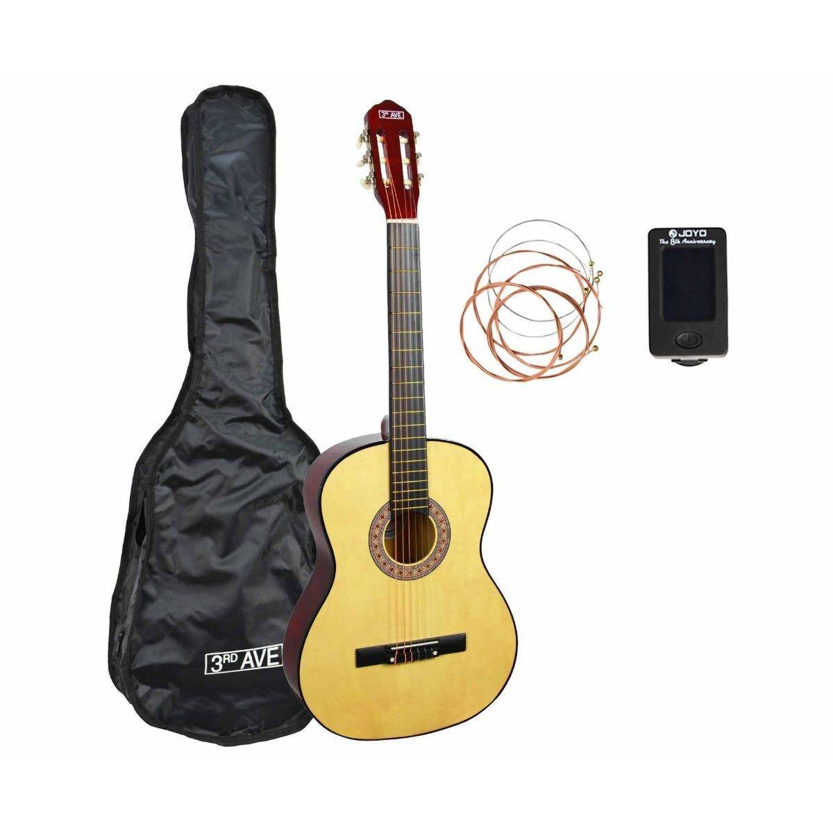 3rd Avenue Full Size Beginner Classical Guitar Pack Natural