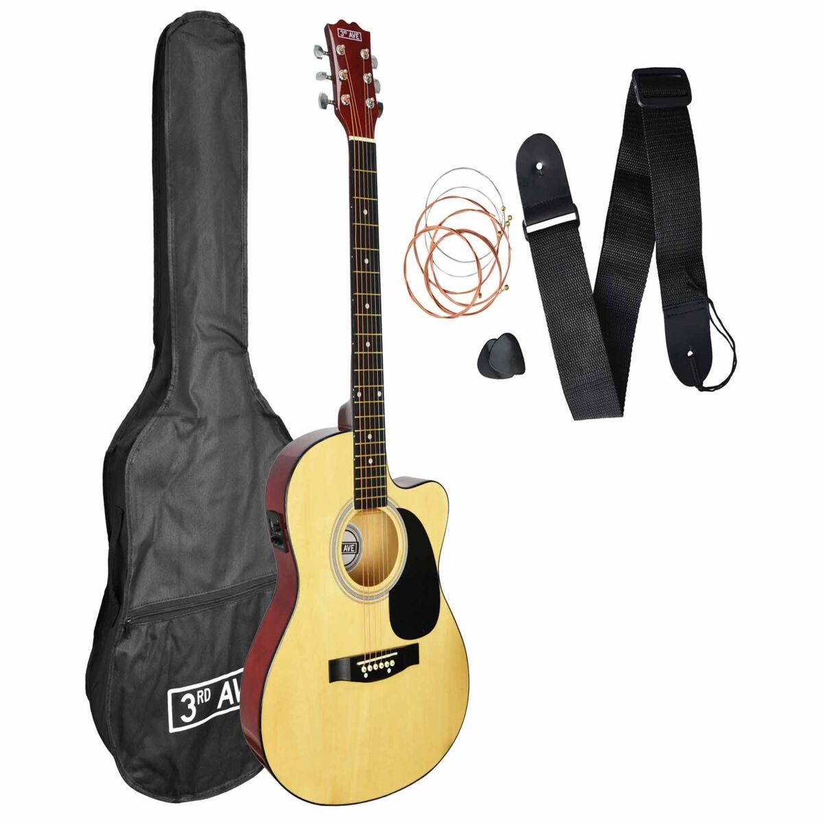 3rd Avenue Cutaway Electro Acoustic Guitar Kit