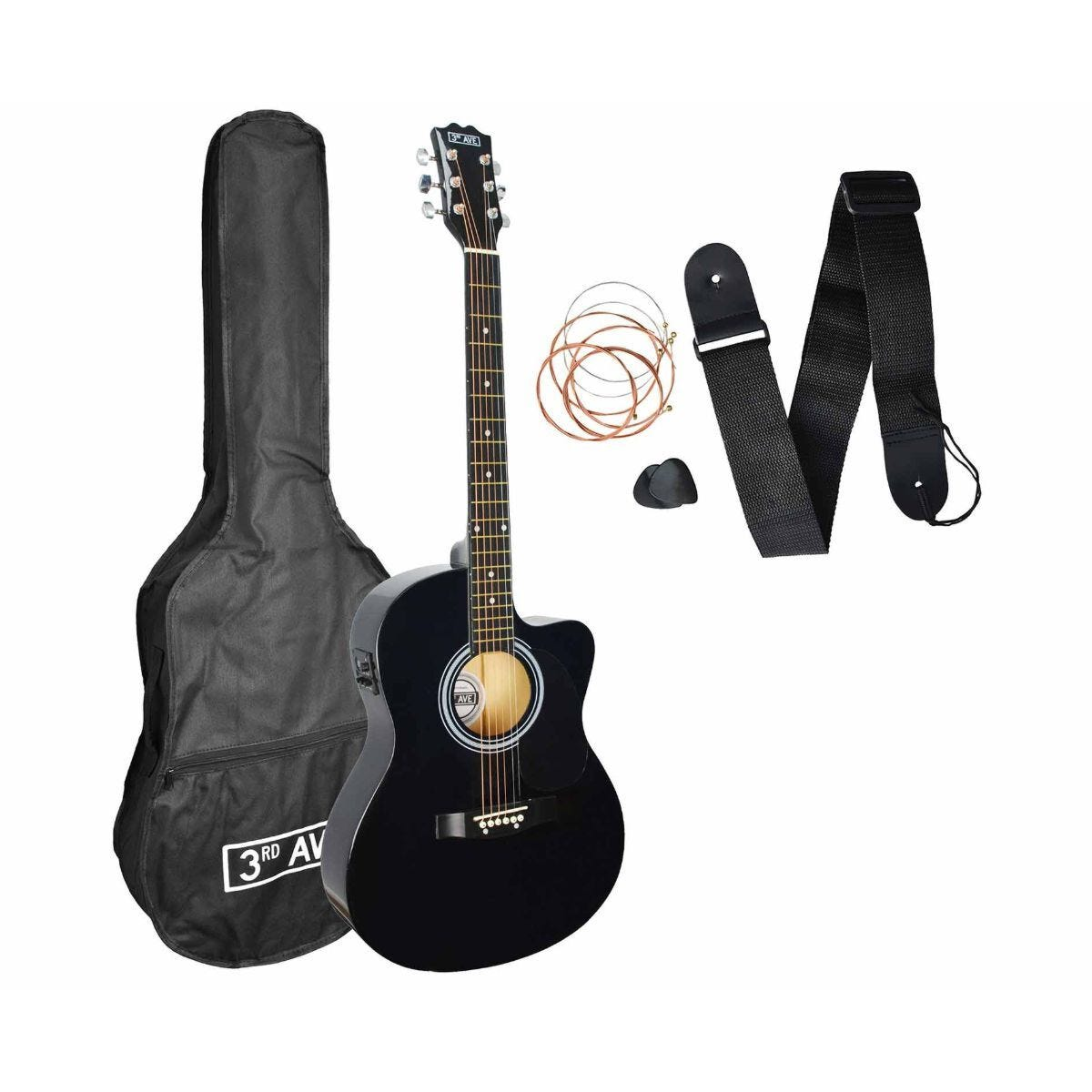 3rd Avenue Cutaway Electro Acoustic Guitar Kit Black
