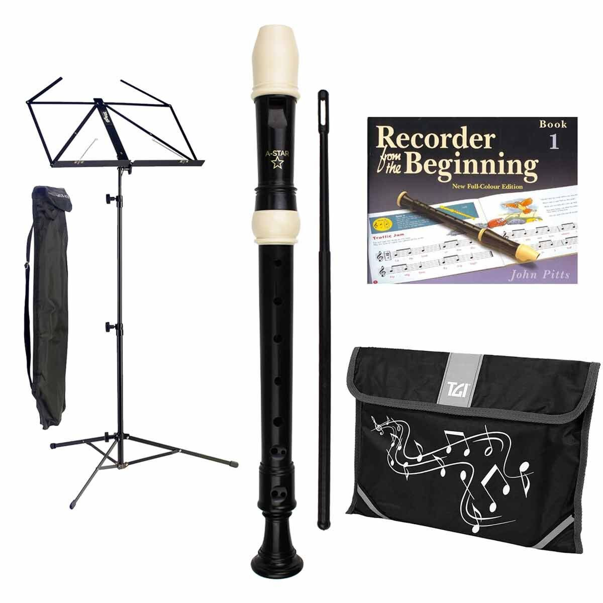 A-Star Recorder Starter Pack with Bookstand and Bag