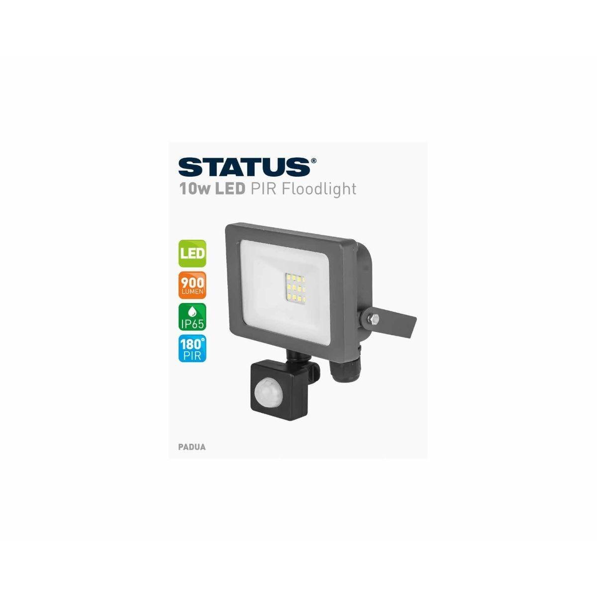 Status Slimline LED PIR Motion Sensor Light White