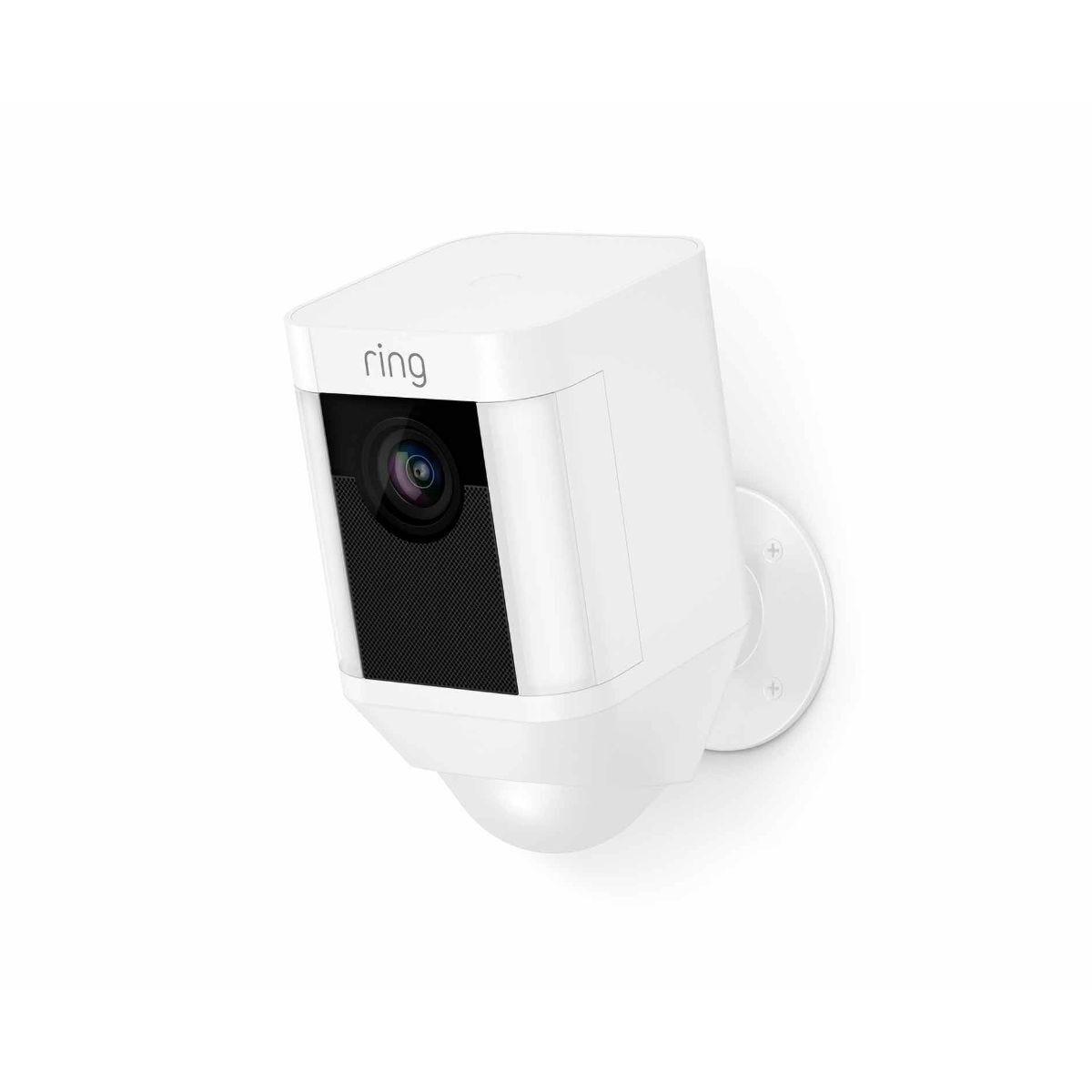 Ring Spotlight Battery Security Camera White