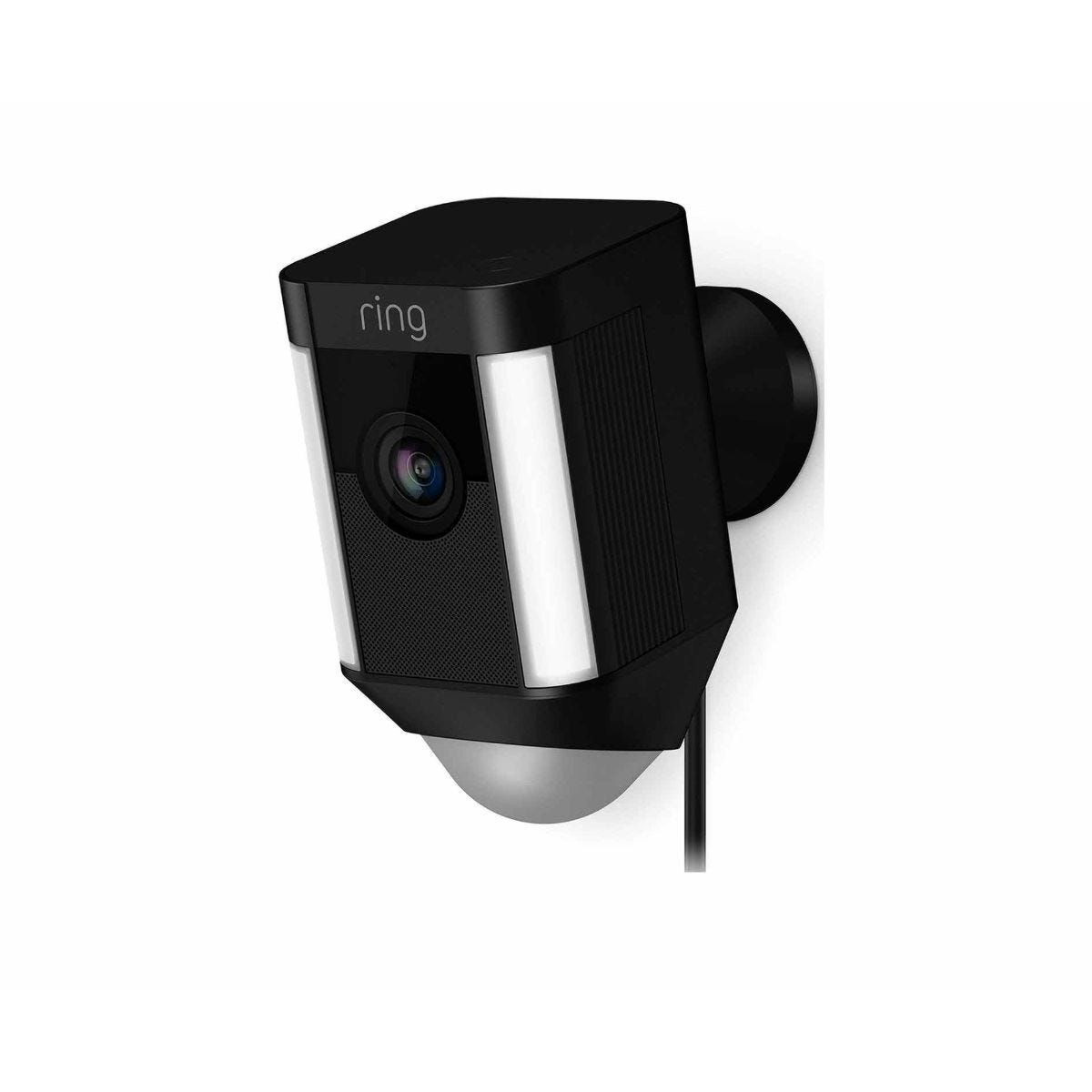 Ring Spotlight Wired Security Camera Black