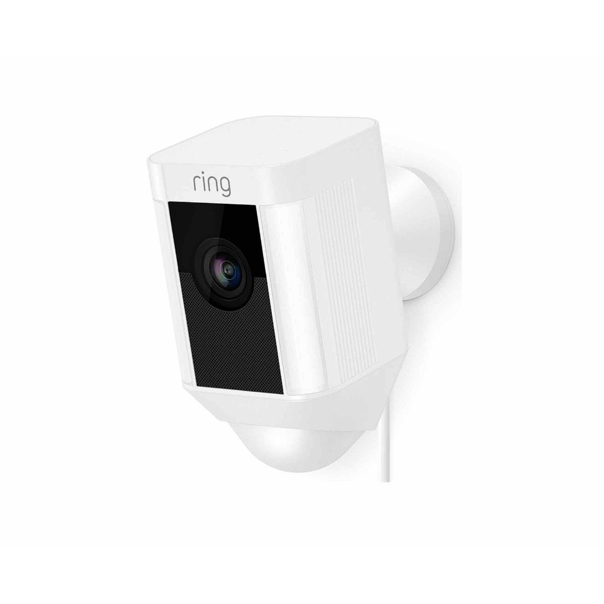 Ring Spotlight Wired Security Camera white