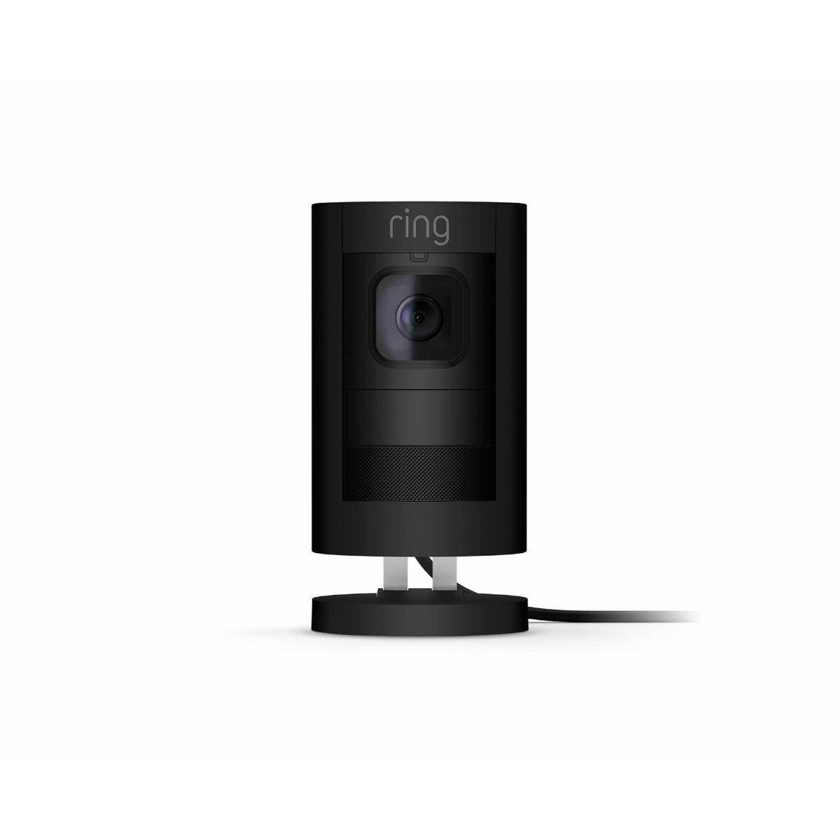 Ring Stick Up Wired Security Camera Black