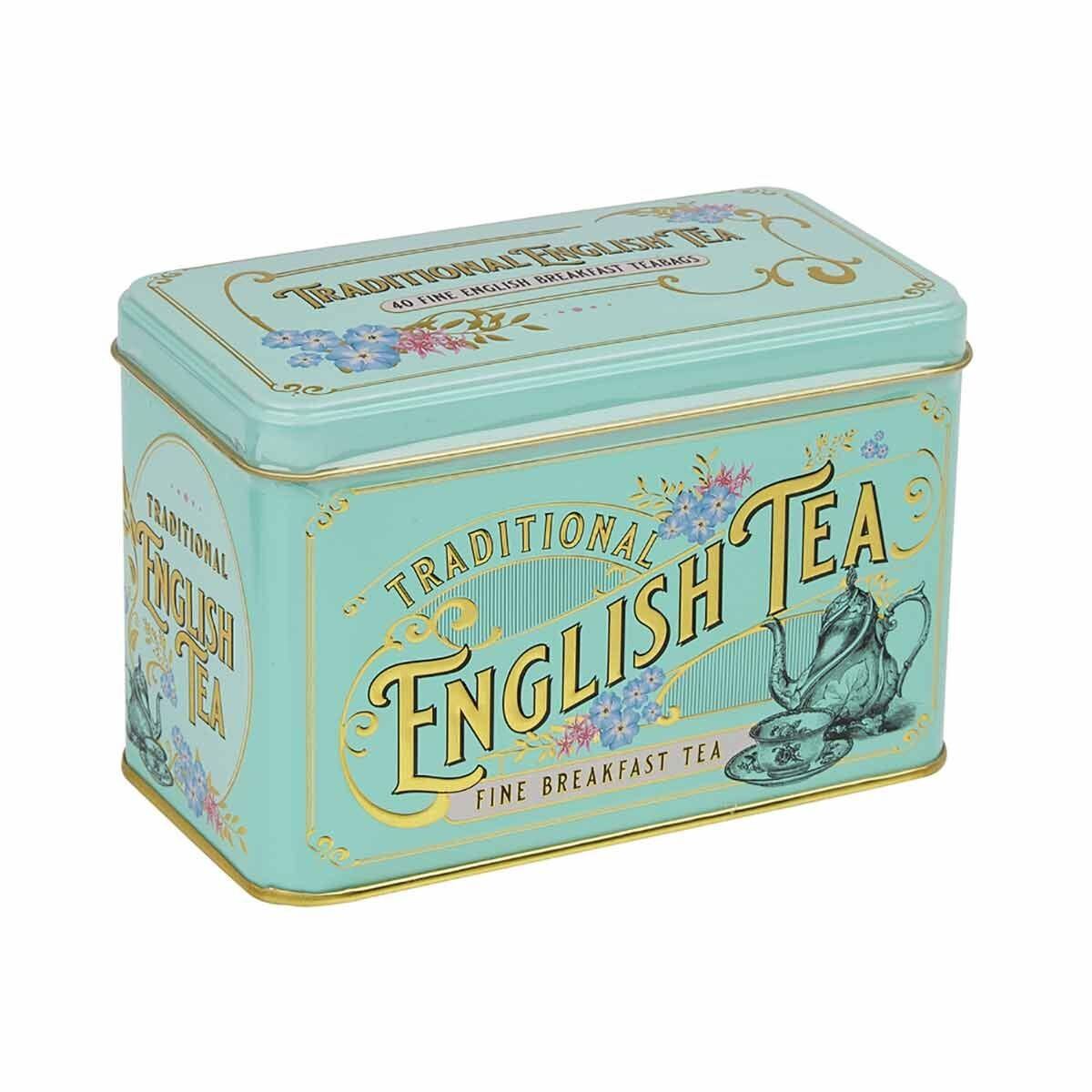 New English Teas Vintage Victorian 40 Breakfast Teabag Gift Tin