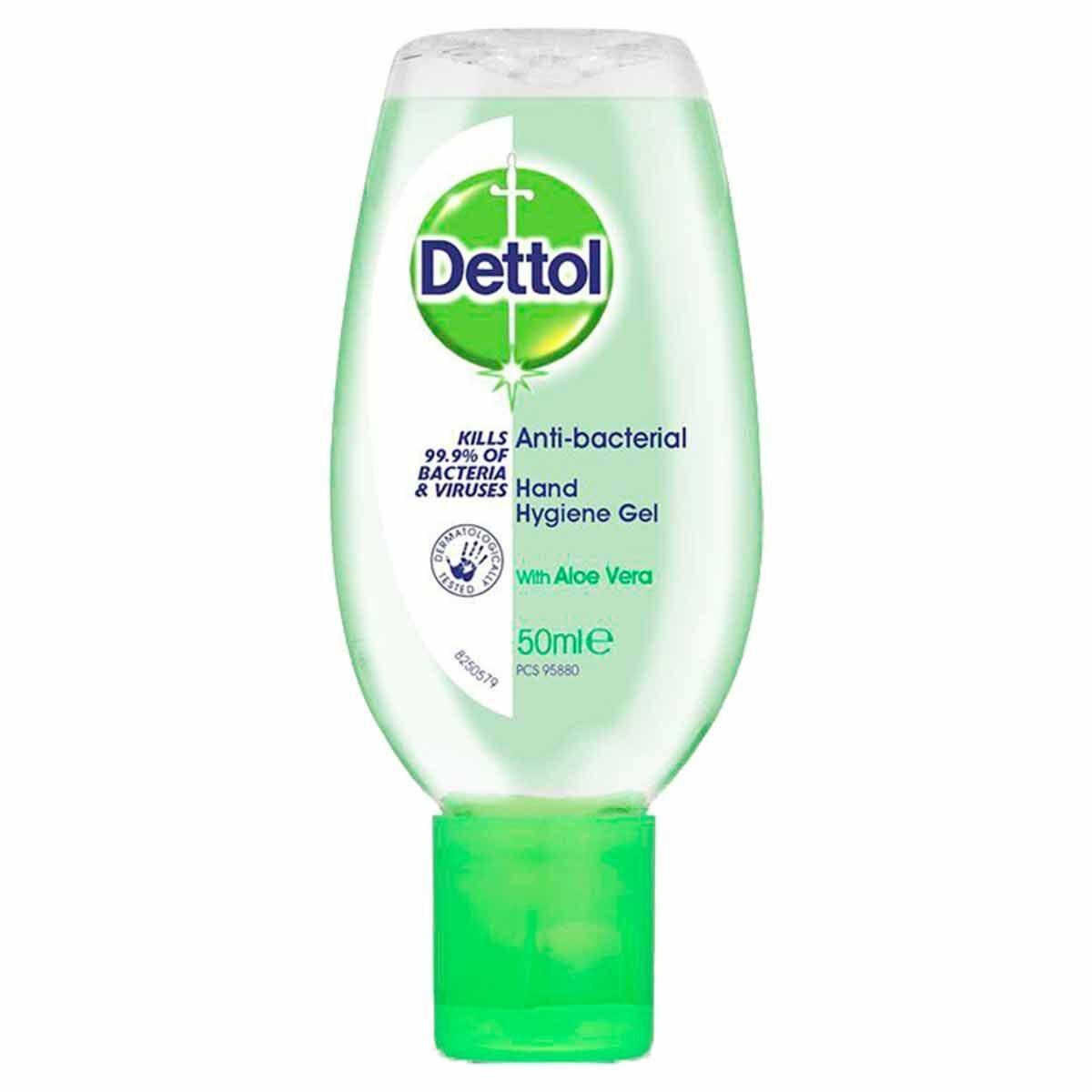 Dettol Antibacterial Hand Gel Aloe Vera 50ml