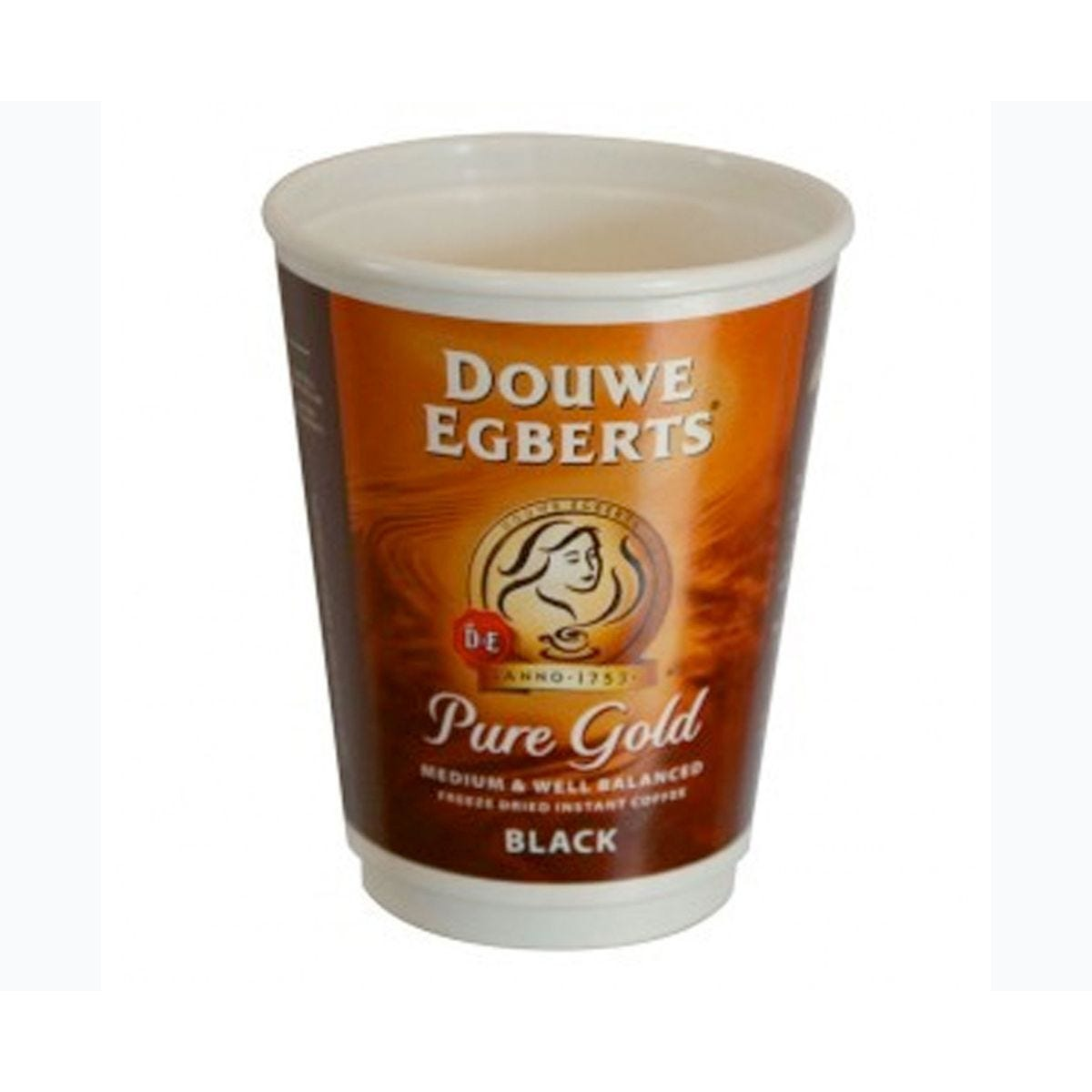 Douwe Egberts Pure Gold Black Coffee 12oz Cups 2GO 150 Cups