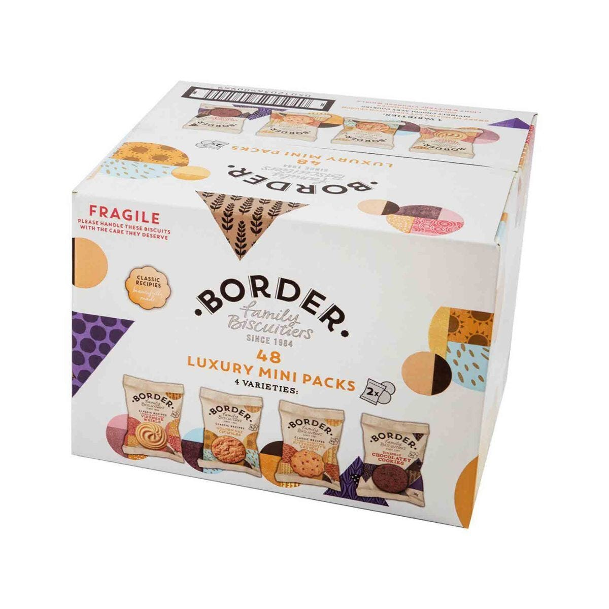 Border Luxury Mini Pack Biscuits Box of 48 Pack