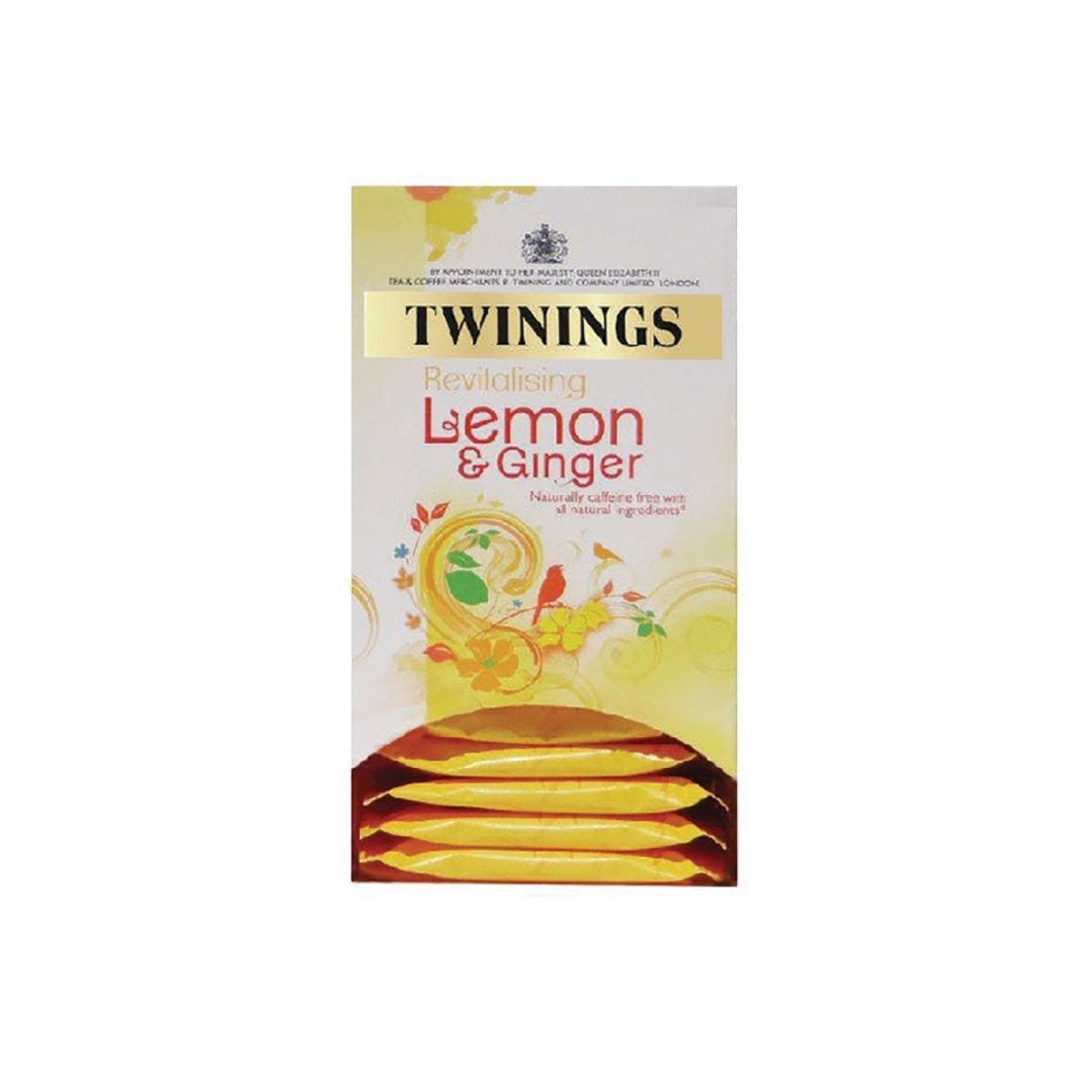 Twinings Lemon and Ginger Fruit Infusion Tea Bags Pack of 20