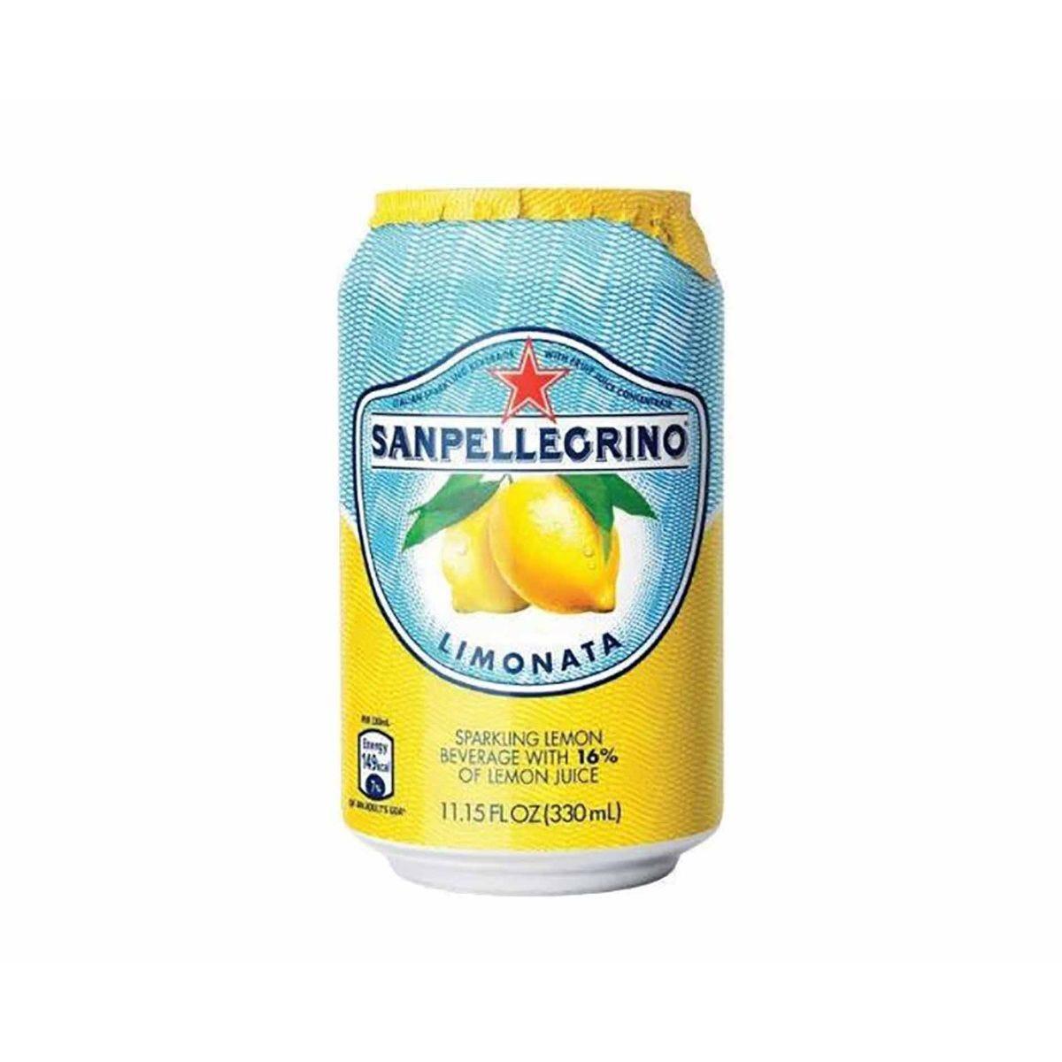 San Pellegrino Limonata Lemon Canned 330ml Pack of 24