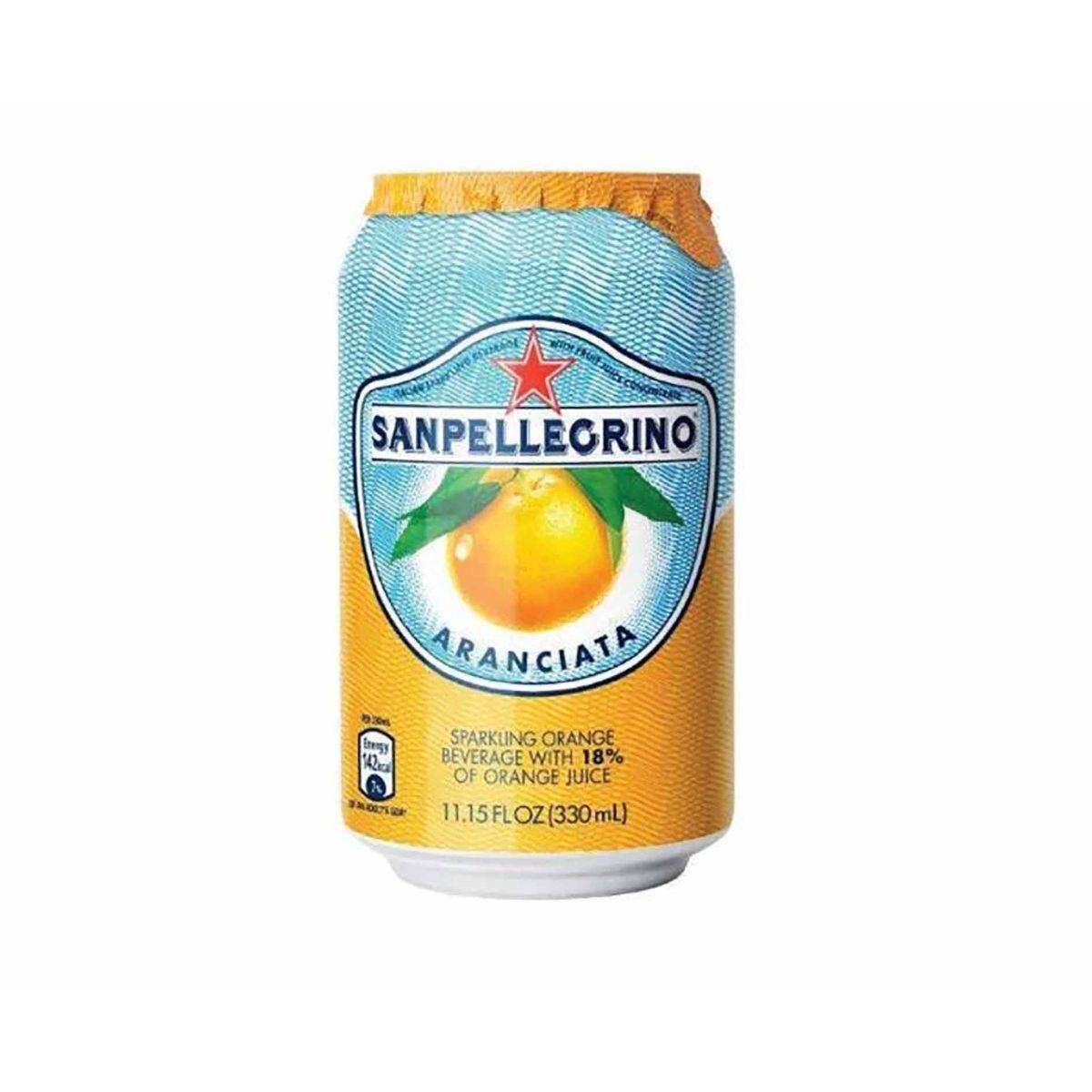 San Pellegrino Aranciata Orange Canned 330ml Pack of 24