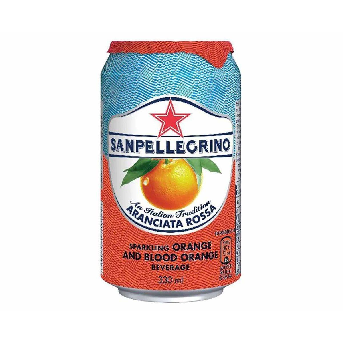 San Pellegrino Blood Orange Canned 330ml Pack of 24