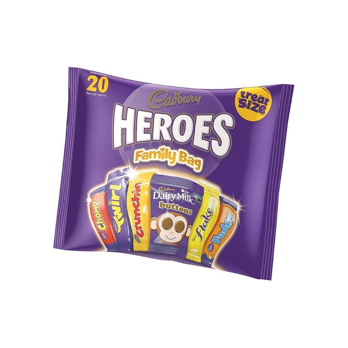 Cadbury Heroes Treat Size Variety Bag Pack of 22