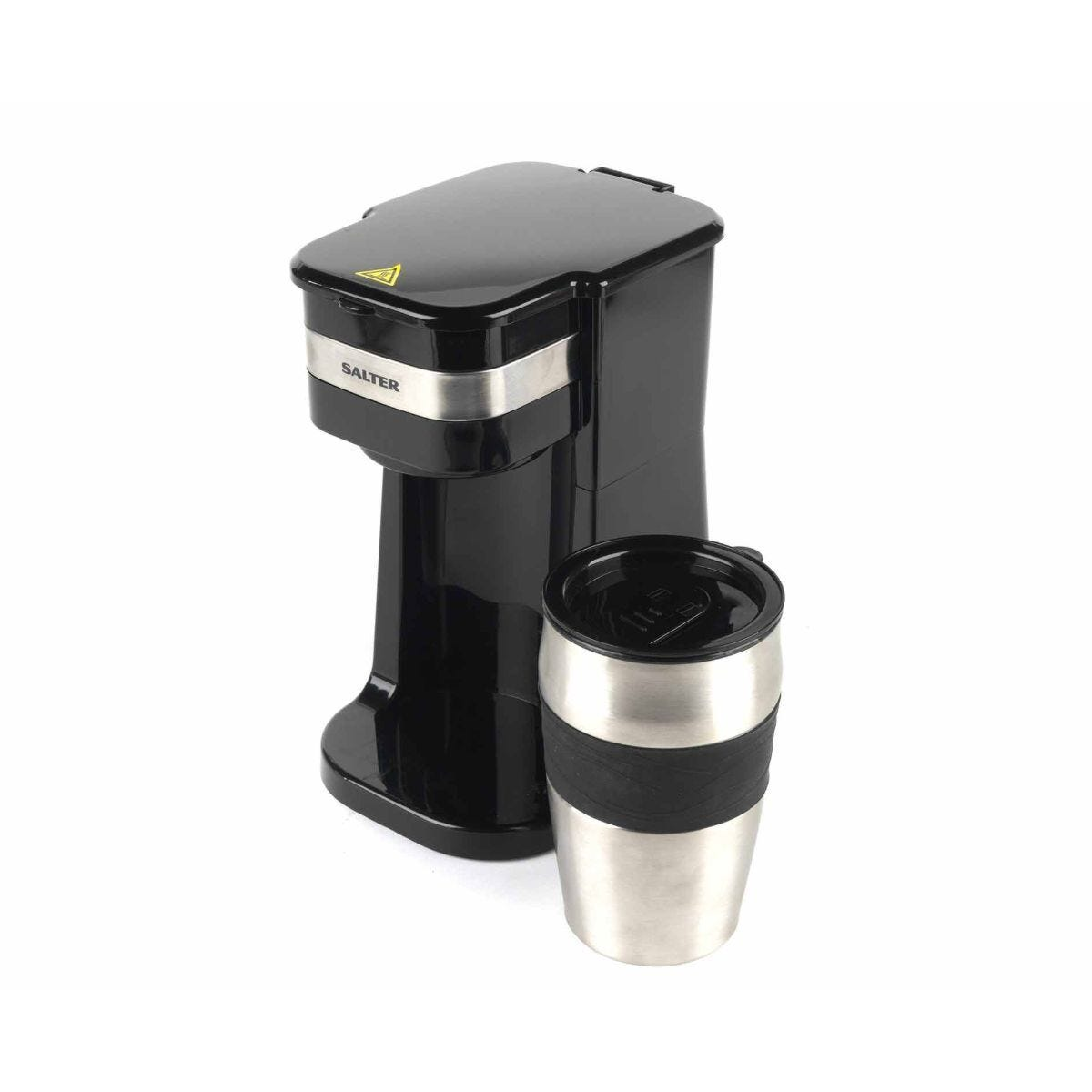 Salter Coffee Maker to Go Personal Filter Coffee Machine with Travel Mug