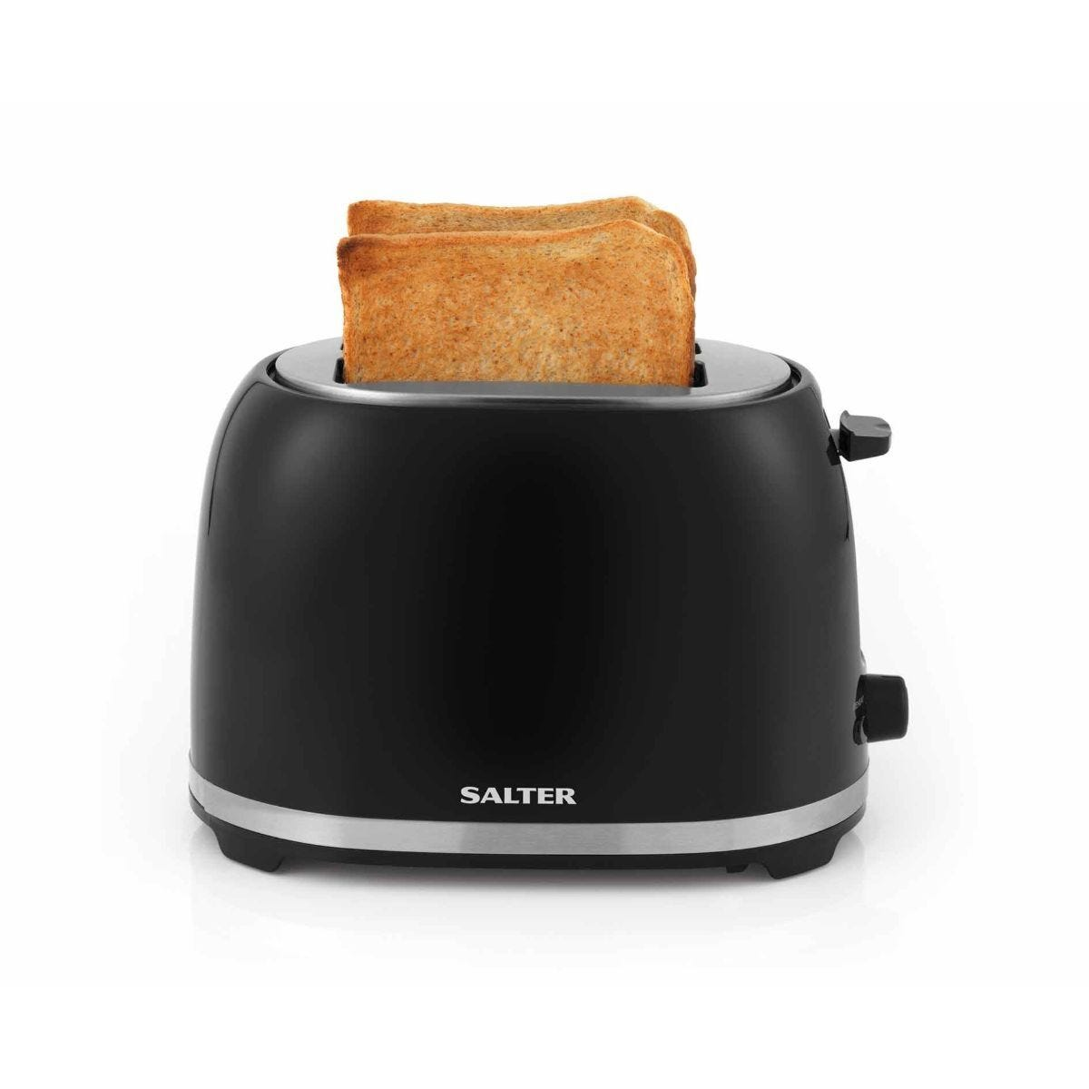 Salter Deco 2 Slice Toaster Black with Stainless Steel