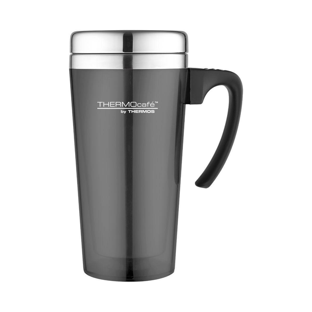ThermoCafe Thermos Translucent Travel Mug 420ml Grey