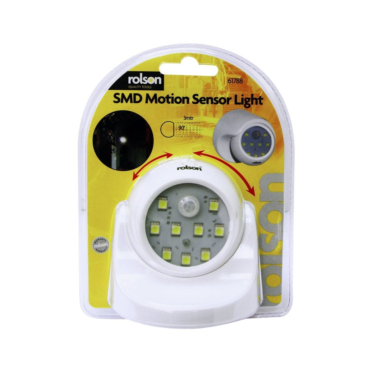 9 SMD Motion Sensor Light