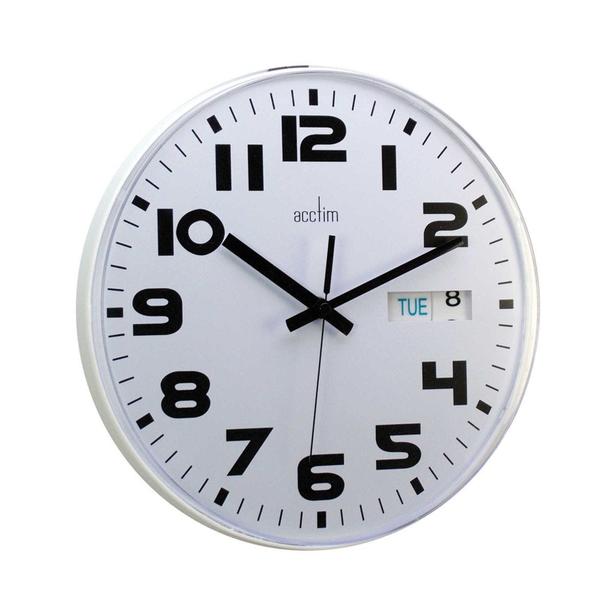 Austin Day Date and Time Wall Office Clock