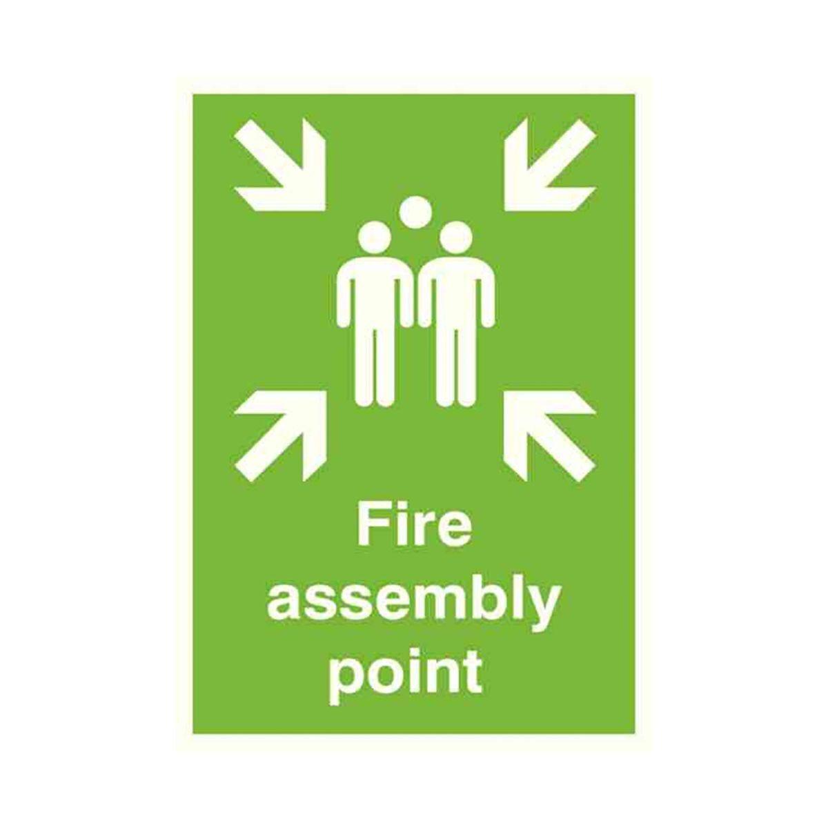 Safety Sign Fire Assembly Point A2 PVC