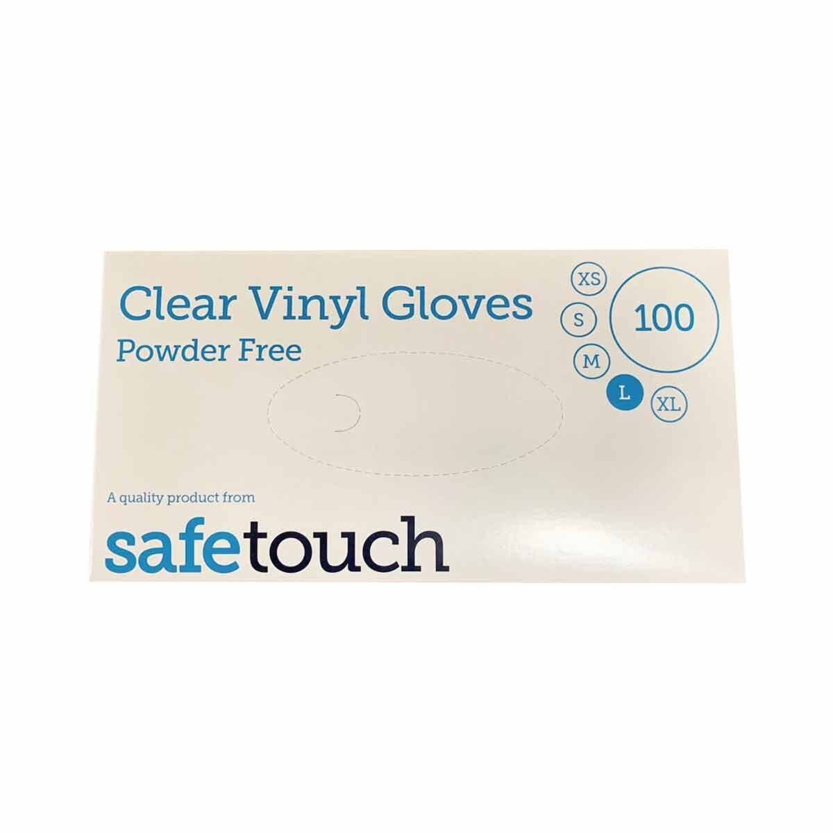 Powder Free Disposable Gloves Large Box of 100