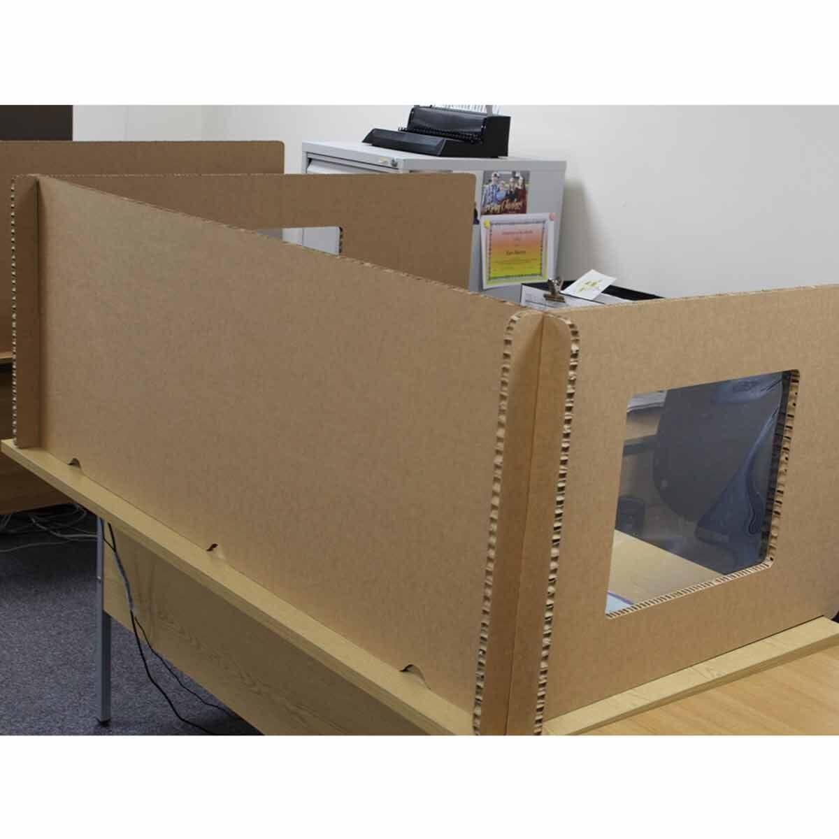 Pallite Desk Screen Set for 1400mm x 800mm Desk