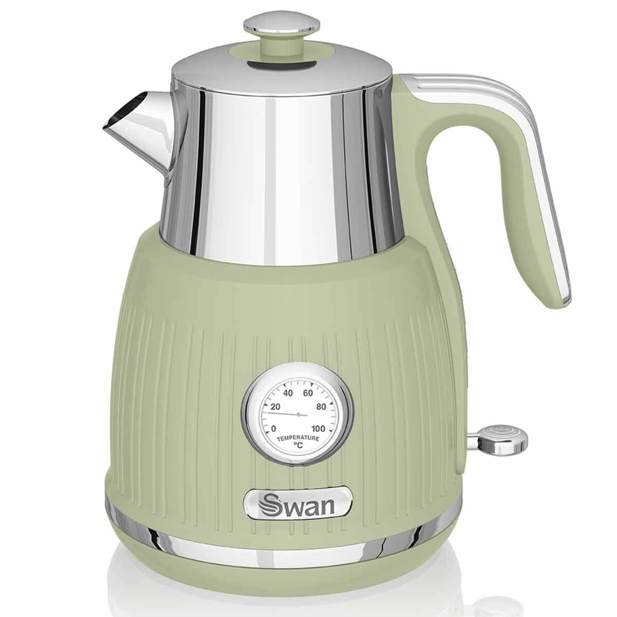 Swan Retro Jug Kettle with Pressure Gauge 1.5L