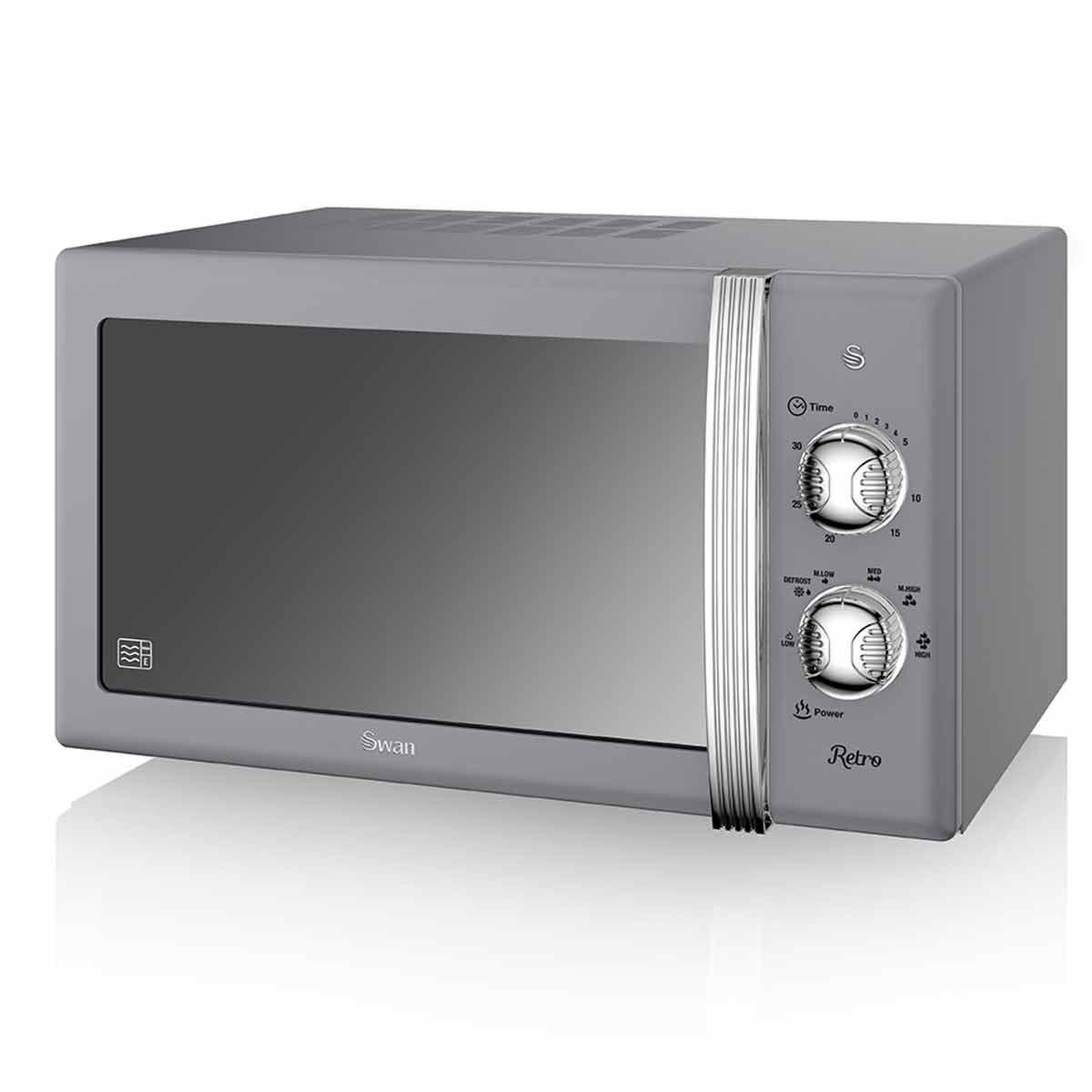 Swan Retro Manual Microwave 20L 800W