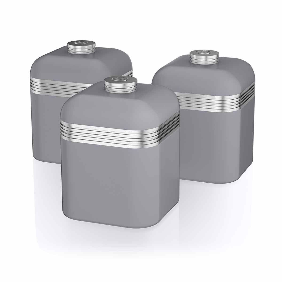 Swan Retro Canisters Set of 3
