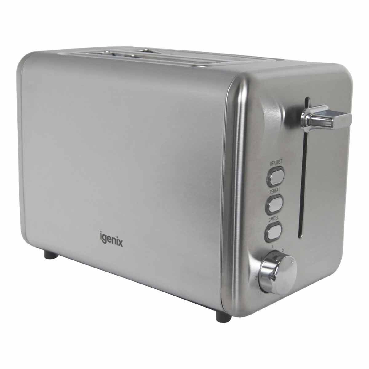 Igenix Stainless Steel 2 Slice Toaster