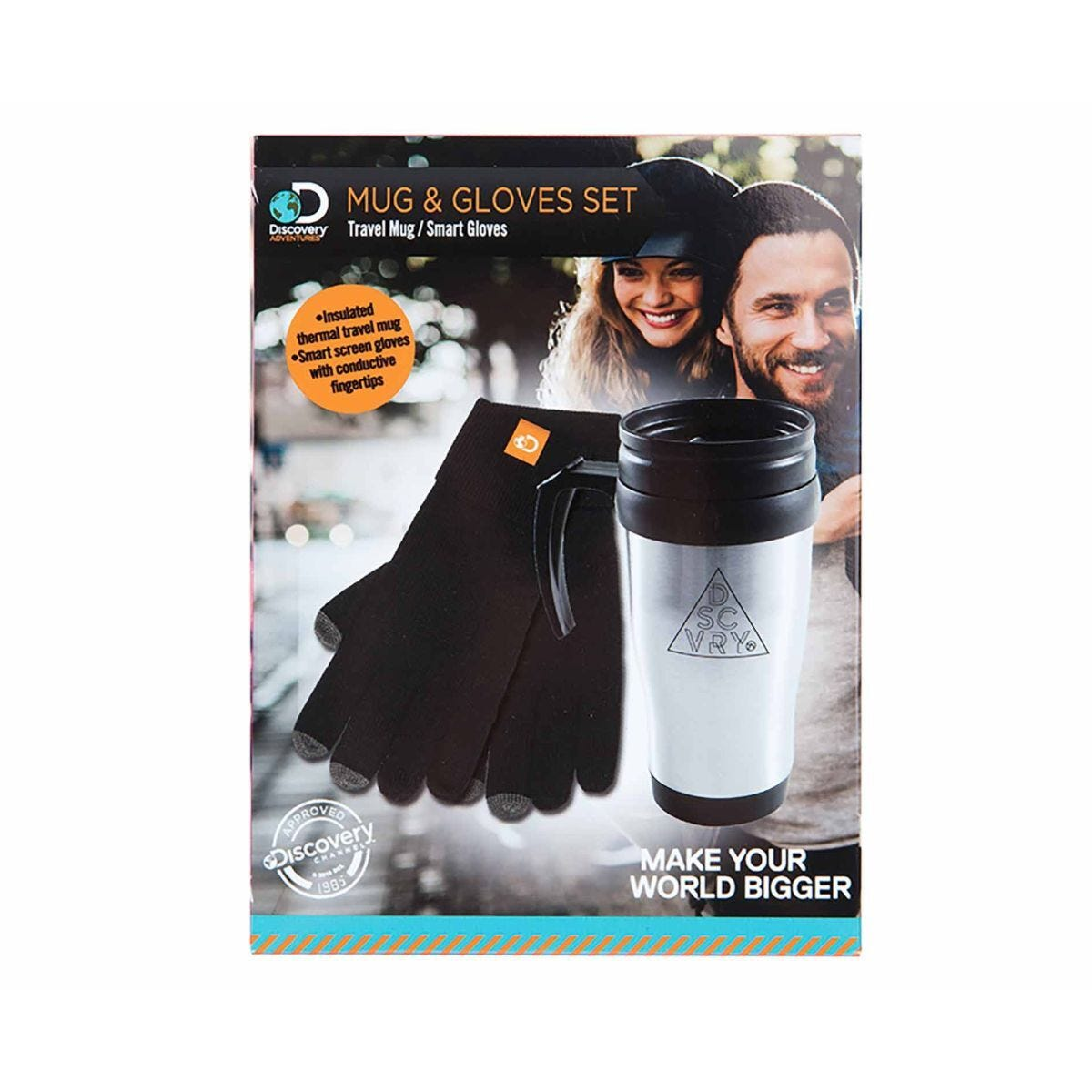 Discovery Adventures Thermal Mug and Smart Gloves Set