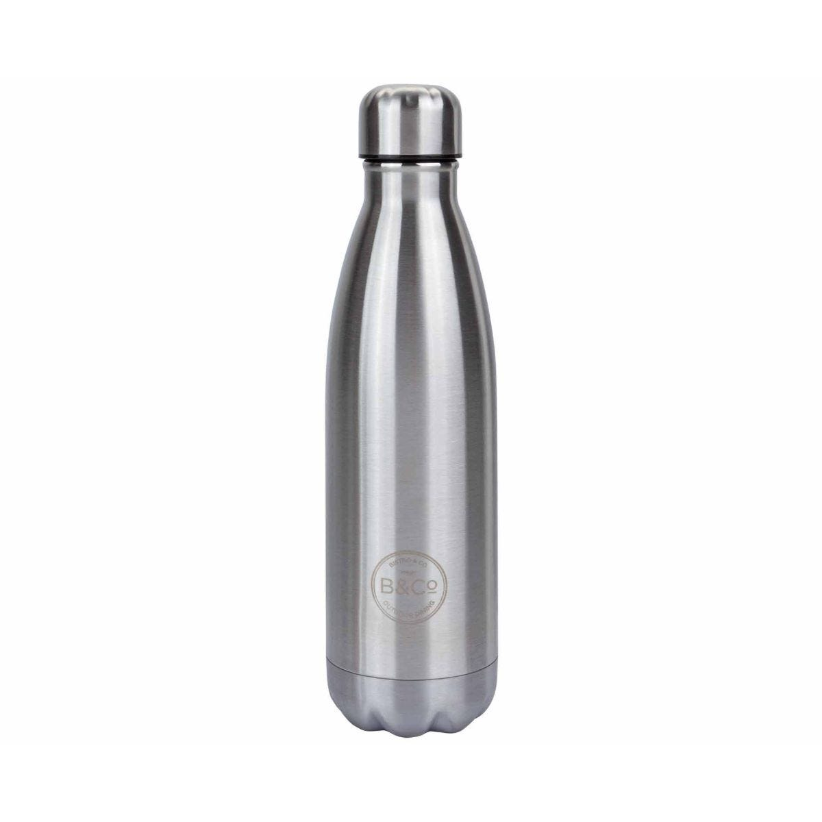 B and Co Stainless Steel Thermal Bottle Flask 500ml Silver