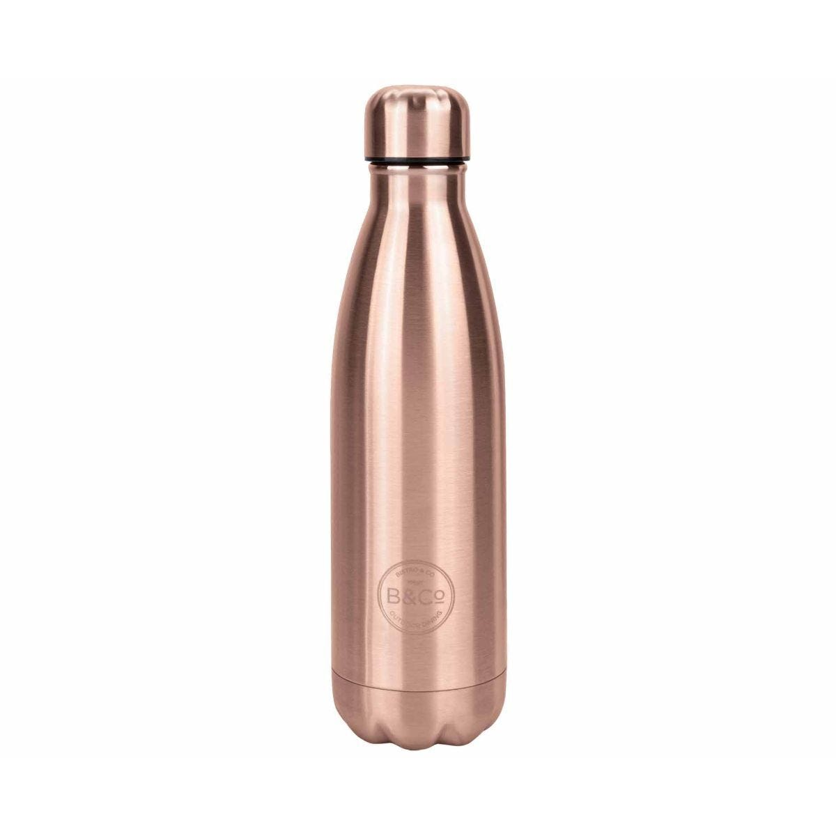 B and Co Stainless Steel Thermal Bottle Flask 500ml Rose Gold